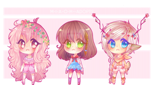 Girl Chibi Adopts [ Open Auction ] by M-I-A-O-H--ADOPTS