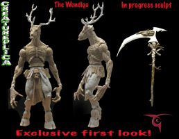 Wendigo first look by BLACKPLAGUE1348