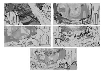 Thumbnails - Fantasy elven city by TranslucentRainbow