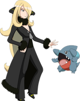 Smash - Cynthia and Gible .:Fixed:.