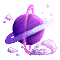 [PixelArt] Purple Planet F2U! by Biby-san