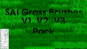 SAI Grass Brushes V1 V2 V3 by horse14t