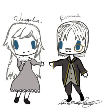 Ronove and Virgilia Chibis by Demonhornz
