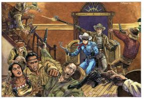 Lone Ranger Tonto Jonah Hex by mlpeters