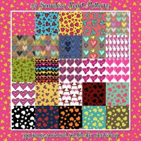 25 Seamless Heart Patterns by HGGraphicDesigns