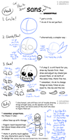 .: TUTORIAL : Drawing Sans and Papyrus :. by ZKCats