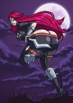 Commission - Bootylicious Katarina by Axel-Rosered