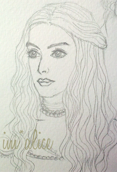White Queen Drawing by im-alice