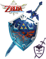 Skyward Sword: Sword/Shield Artwork Render by shad0w8