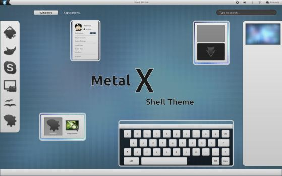 Metal X theme v.3.1 for Gnome 3.26 by CAI79