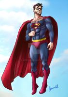 Superman fanart old costume by ArtByFab