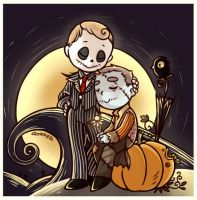 The Pumpkin King and his doll by Gorryb