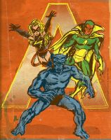 70s Avengers by TheCosmicBeholder