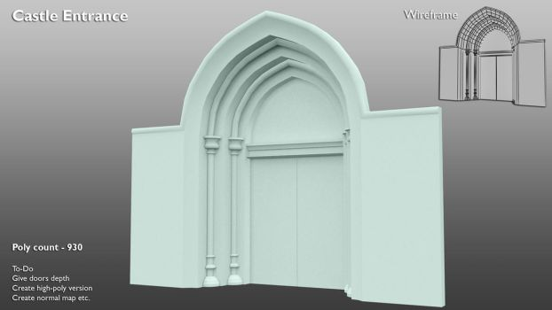 Castle Entrance - WIP by 3DPad