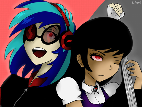 The Ultimate Despair - Vinyl Scratch and Octavia by trixeed