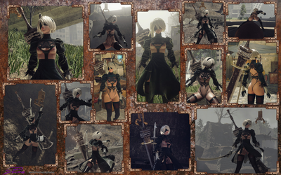 Mod-Nier Automata-2B partially nude v2.1 by CraftedLightning