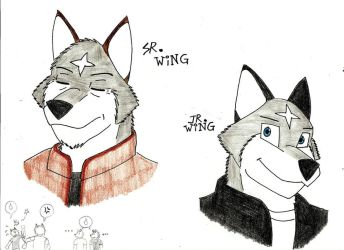 Sr.Wing and Jr.Wing by wingwolf88