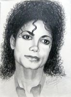 Michael Jackson portrait - pencil drawing by gosia-jasklowska
