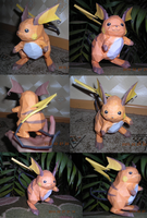 Raichu papercraft by Weirda-s-M-art