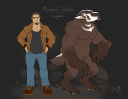 Silver and Bone: Michael Tonta (Updated: 2014) by Red-Lynx