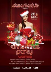 Red Christmas Warming Party 25th December by n2n44