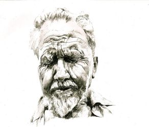 Ezra Pound by Zalmay