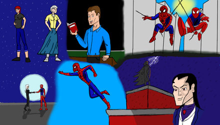 Spider-man Family season one sibling rivalry by stelly777