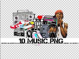 10 MUSIC PNG + by Discopada