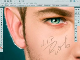 Working in a new portrait by elGuaricho