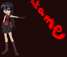 Akame in EG style by NativeBrony-91
