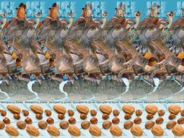Ice Age Stereogram by 3Dimka