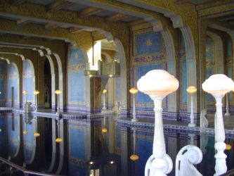 Hearst Castle Indoor Pool by StockWolfwood