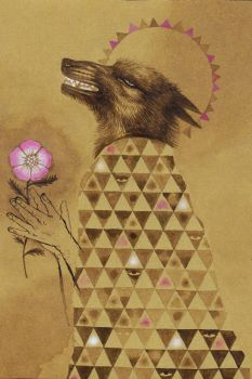 Coyote And Wild Rose by lonelybadger