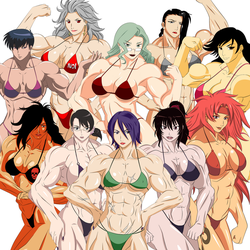 10 Muscle Girls by elee0228