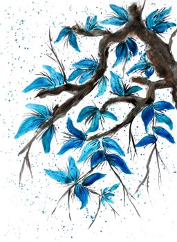 Blue Leaves by MarcHorn