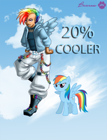 20 percent COOLER Rainbow Dash by Brierose
