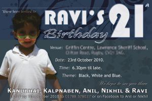 Ravi 21st Invite by Blackthorn87