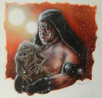 MY LIL' BUDDY RANCOR AND ME by DannyNicholas