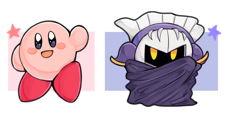 Kirby and Meta Knight by Camsen02