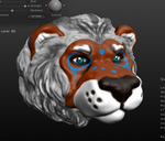 Lion Sculpt by AstaraBriarart