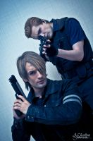 Capcom Cosplay - Leon and Wesker by Leon and Phil by LeonChiroCosplayArt