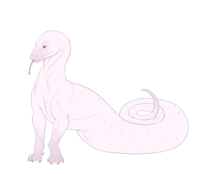 Albino snakething by Echo-Arts