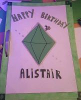 The Sims themed birthday card! by MadameButterfly94