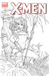 Rogue blank cover commission | Ink by CottonyHotchkiss