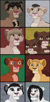 Creepy kids as cubs two by TLK-Peachii