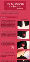 How to Sew Snaps and Buttons by RodianAngel