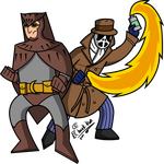 Nite Owl and Rorschach by Chaak-kun