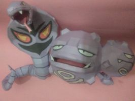 weezing y arbok papercraft by jorgeescalante