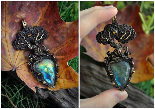 Enchanted Tree necklace by Eartha-Creations