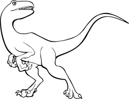 Raptor Dinosaur - Free Lineart + Adopt Base by Chibivi-Linearts